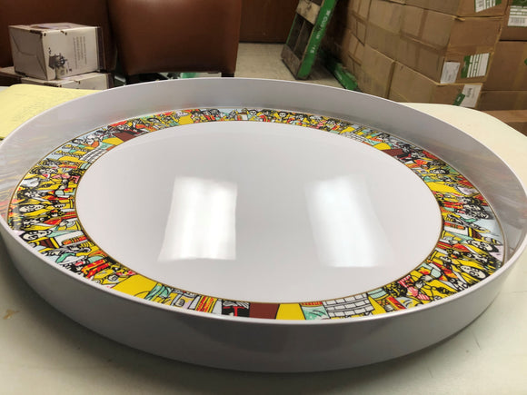 Serving Tray Round Extra Large   ትልቅ ትሪ - E-Merkato