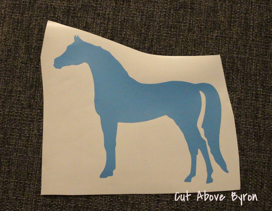Blue Arabian Horse Silouette (Medium)