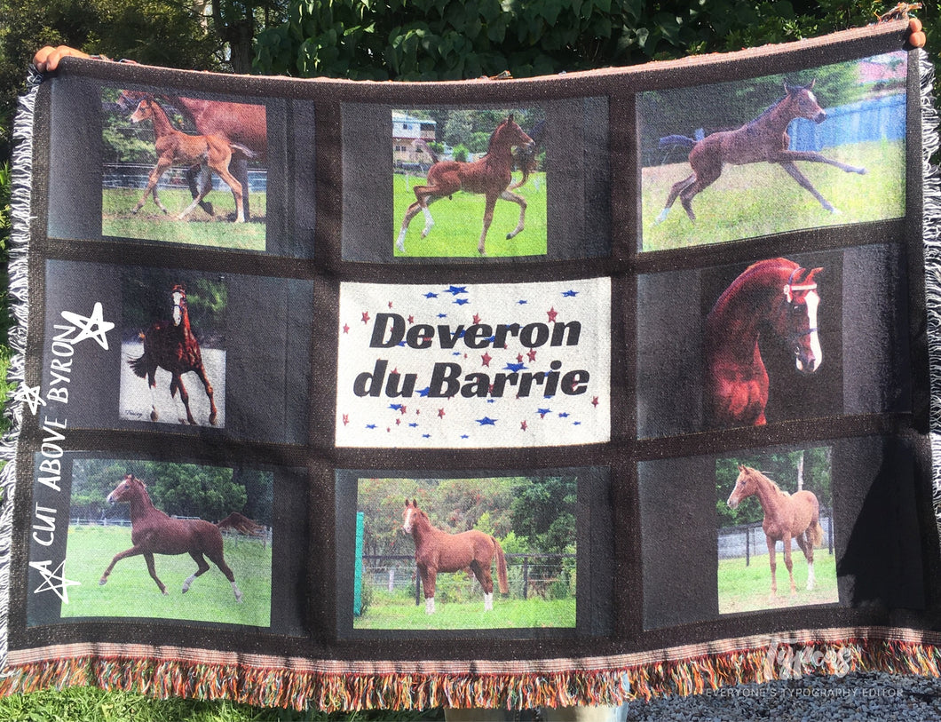 Personalised Woven Throw Blanket