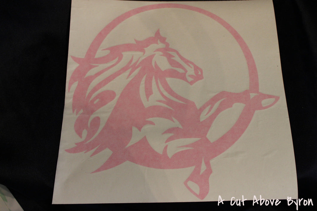 Pair Hot Pink Horse decals