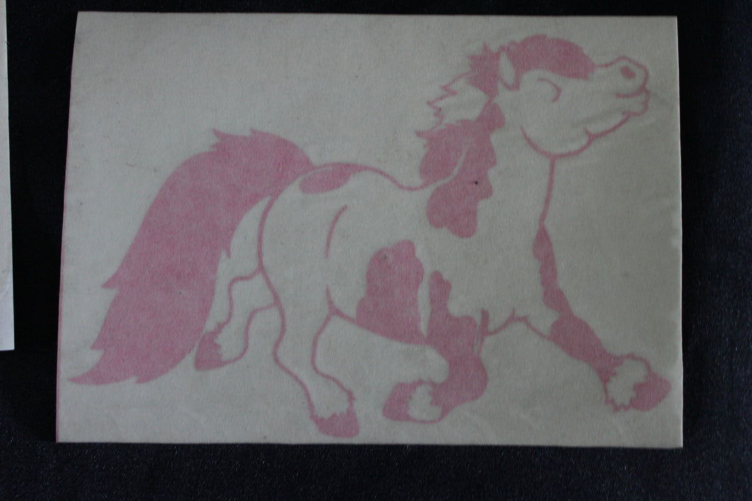 Pair Pink pony decals