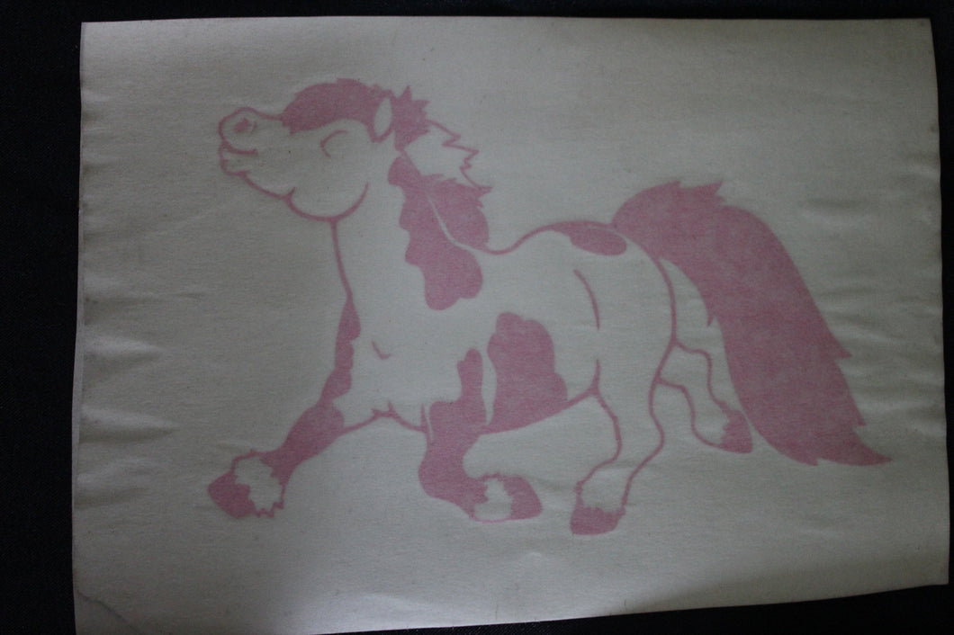 Pink Pinto Pony Decal