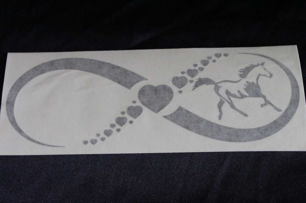Infinity horse love design decal