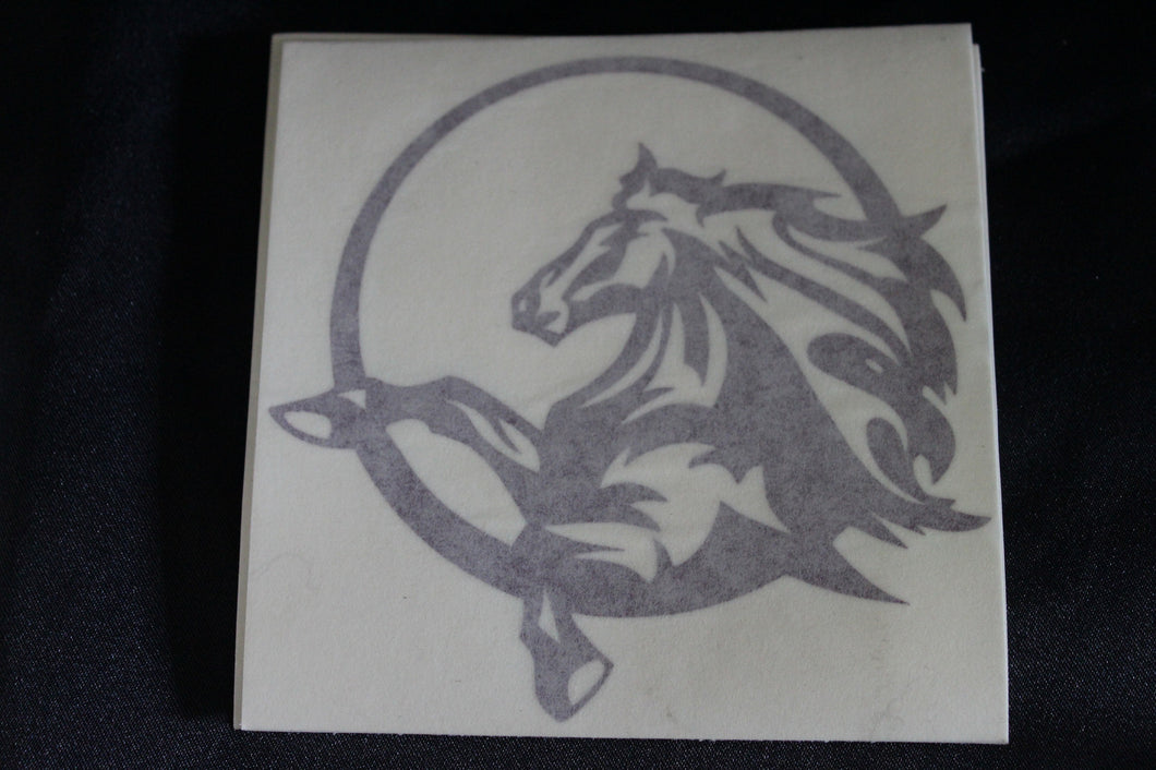 Purple horse in circle decal
