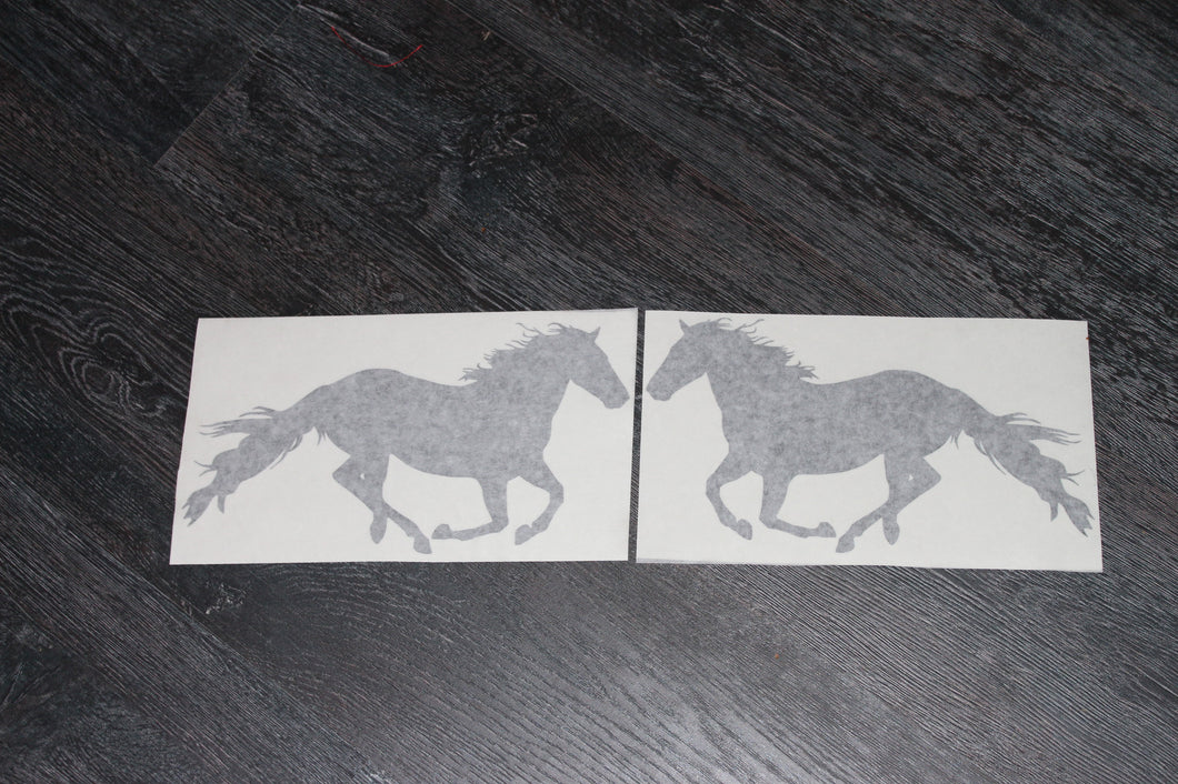 Double running horse decal pack
