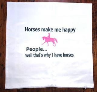 Horses make me happy - People... well that's why I have horses cushion cover