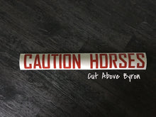 "Reflective ""Caution Horses"" Float decal"
