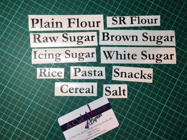 Basic Pantry Labels Black