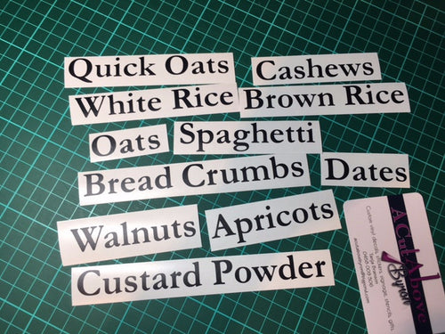 Extended Pantry Labels Black