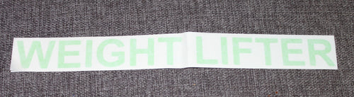 Weight Lifter (Light Green) Large Label