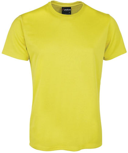 Coloured Podium Cool Polyester T-shirts (Adults) 7PNFT