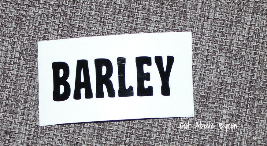 Barley (black) Label