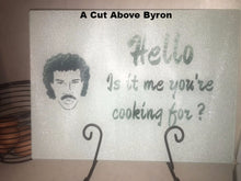 Hello? Is it me you're cooking for? Glass cutting board