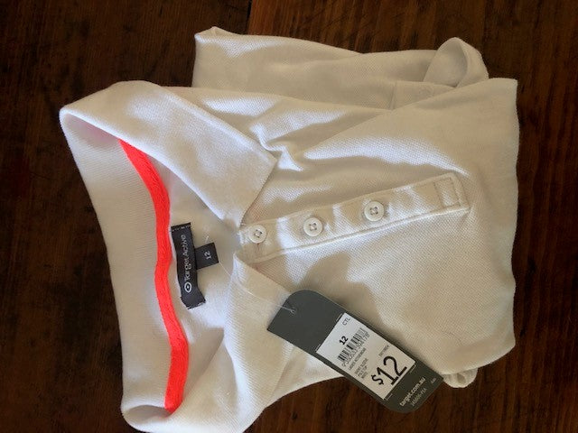 BNWT Target Active White ladies polo