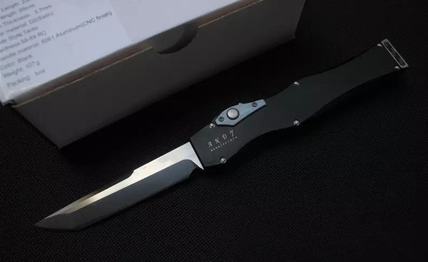 High Quality Microtech Knife Andy Tush D2 6061-T6 Aluminum CNC Finish - VIKNIFE