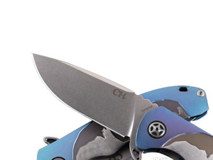 Folding Knife Tactical Survival Knives Art Decoration Yellow Blue CH Brand Ball Bearing S35VN Titanium