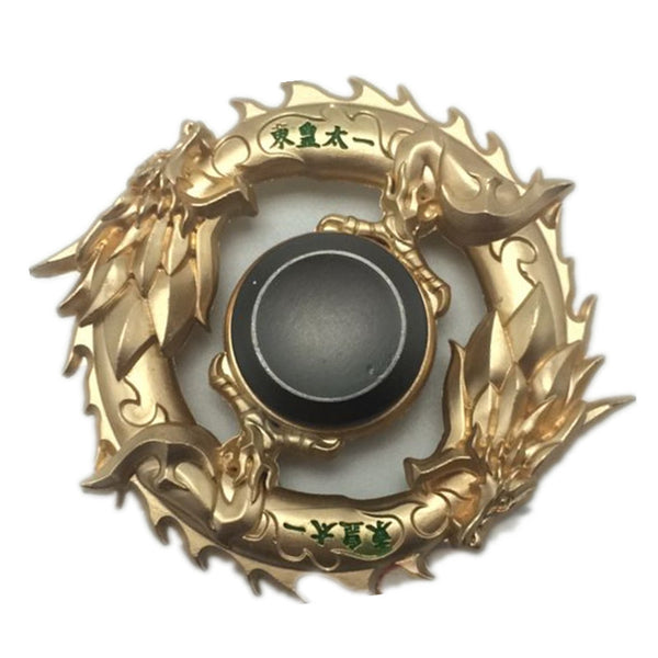 2017 New golden dragon Fidget spinner Zinc alloy Metal rotary EDC hand spinner for autism and ADHD Focus Stress Fingertip gyro - VIKNIFE