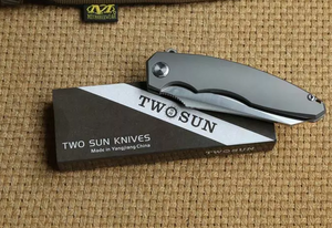 VIKNIFE 2901 - Titanium blade flipper and folding knife