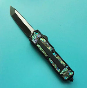 6 Models Microtech Scarab Black Scarab Abalone Shell Double Action - VIKNIFE