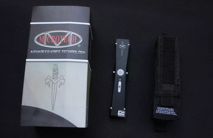 High Quality Microtech Nemesis Automatic Knife 8Cr13Mov Black Red