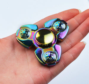 Creative Ceramic Colorful Metal Tri-Spinner Fidget Toy EDC Hand Spinner for Autism and ADHD Stress Relieve Toy - VIKNIFE