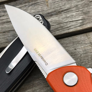 Shirogorov Folding G10 Black Orange Knife - VIKNIFE