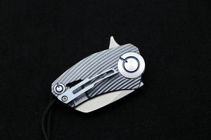 High-End Mini Flipper Small CH Brand EDC Pocket Knife Titanium - VIKNIFE