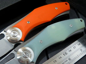 Green Thorn Ball Bearing G10 Folding Pocket EDC Knife - VIKNIFE