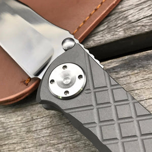 Chris Reeve Folding D2 Blade TC4 Titanium Handle Camping Knife Outdoor Edc Pocket - VIKNIFE