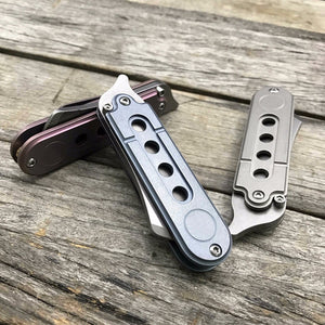 Serge Bean Knife Folding Mini EDC S35VN Titanium Pocket - VIKNIFE