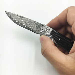 Handmade Collector Damascus Small Pocket Folding - VIKNIFE
