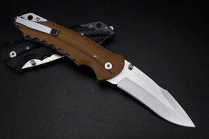 2 Styles Brand Folding Tactical Pocket EDC Knife Brown Black Glass Fiber G10 - VIKNIFE