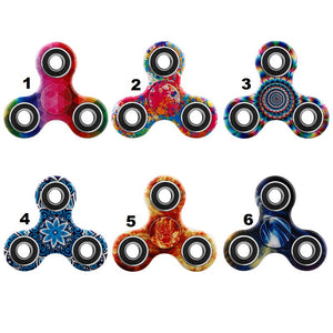 Hand Spinner Fidget Patterns EDC Spinners Spinning Time Long Tri-spinner Finger Toys for Anti-stress Adults Kid Children Gift - VIKNIFE