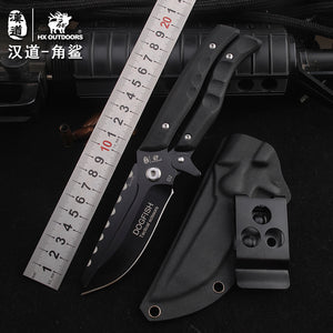 HX OUTDOORS survival knife multifunctional scissors dual-purpose D2 blade high hardness knife hunting utility Knives hand tools - VIKNIFE