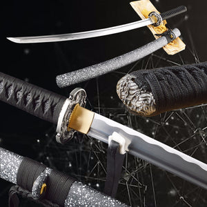 Sharp Genuine Samurai Katana High Carbon Steel Top Quality Full Tang Battle Ready Japanese Sword Practical Metal Home Decoration