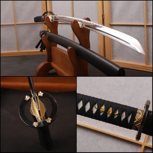 Traditional Japanese Katana High Carbon Steel Blade  Full Tang Sword Fully Handmade  with Long Hi Popular  Home Decoration