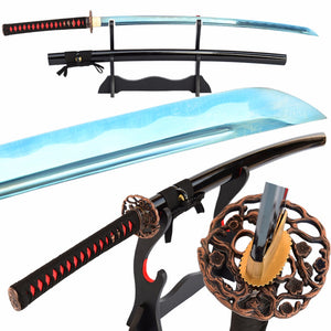 Swords Handmade Japanese Samurai Katana High Carbon Steel Sharp Practice Sword Battle Ready Knife Vintage Metal Home Dec