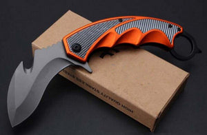 Sog Folding Claw Karambit Edc Tactical Outdoor Brand Serrated Knife Orange - VIKNIFE