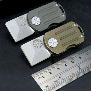 ODT Flipper Folding Real M390 Titanium EDC Pocket Mini Knife - VIKNIFE