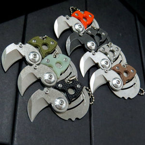 Mini Neck Stonewashed Knife Pocket Edc Karambit - VIKNIFE