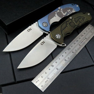 High-End Tactical CH S35VN Titanium Folding Pocket EDC Knife - VIKNIFE