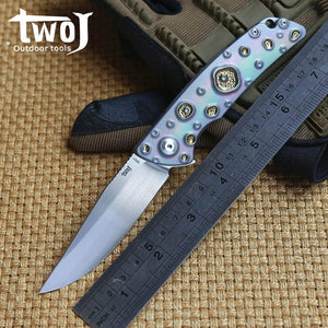 CH Brand Knife High End Original Blue Art Decoration Ball Bearing S35VN EDC - VIKNIFE