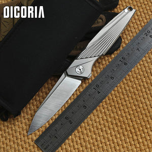 CH  High End Brand Folding Knife M390 Titanium - VIKNIFE