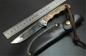 Browning Shadow Wood Hunting Knife Camping Tool Survival Fixed Blade Knife - VIKNIFE