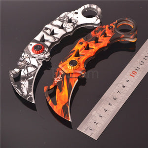 SOG Folding Claw Karambit Edc Tactical Outdoor Brand Knife Orange White - VIKNIFE
