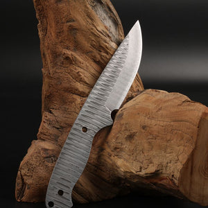 V8 Damascus knife blade billet Sharp Fixed blade Hunting Knife Blanks forged camping knifeblade 57HRC