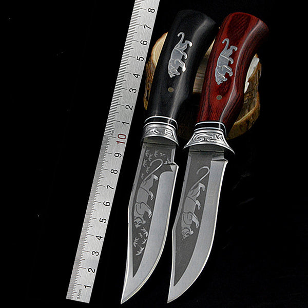 PEGASI Outdoor Camping Fighting Fixed Blade Stainless Steel 7CR17MOV Tactical Hunting Knives Tool