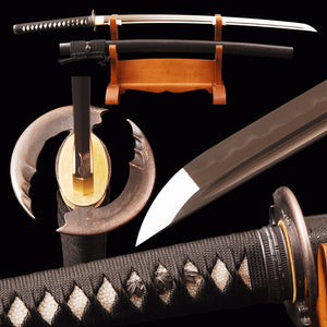 Swords Vintage Samurai Sword 1095 Carbon Steel Clay Tempered Blade Full Tang Handmade Sharp Edge Real Japanese Katana