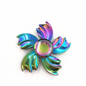 4 style Colorful Professional EDC Fidget Toy Spinner Metal Anti Stress Finger Spinner Stainless steel Hand Spinner - VIKNIFE