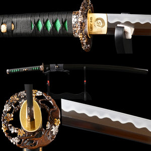Swords Hand Forged Polishing High Carbon Steel Clay Tempered Full Tang training Sharp Japanese Katana Samurai Sword